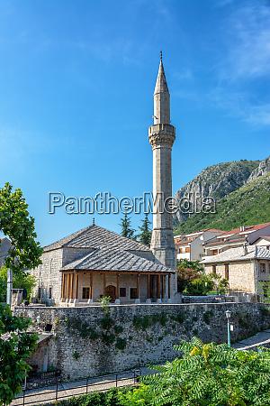 hadzi kurt mosque in mostar bosnia