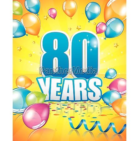 80 years birthday card