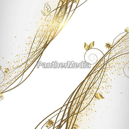 white and gold background