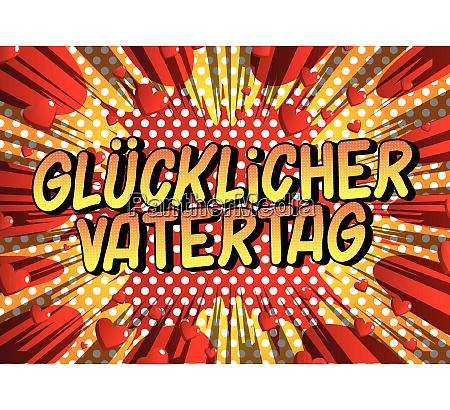 glucklicher vatertag fathers day in german