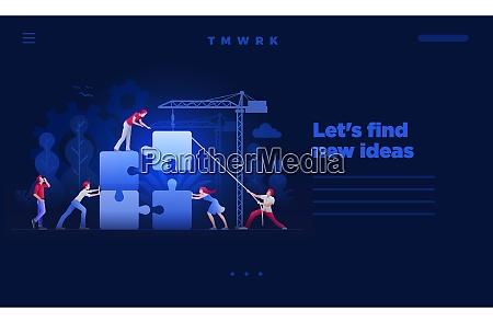 business teamwork concept vector web site