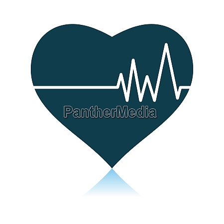 heart with cardio diagram icon