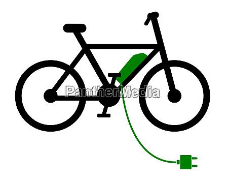 e bike an der ladestation