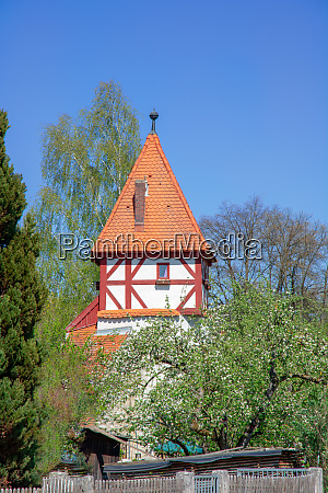 historic medieval tower in beilngries