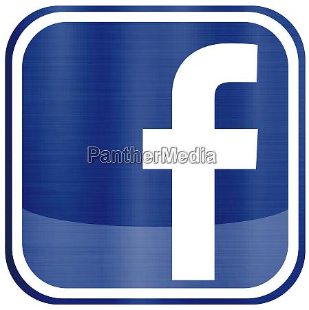 facebook social media illustration metallic