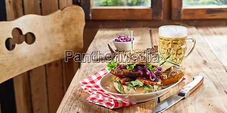 venison burger with wild game patty