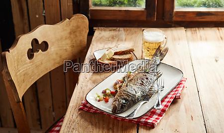 savory oven roasted whole sea bass