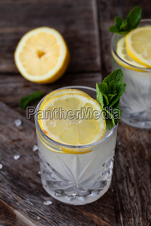 gin tonic with fresh lemon