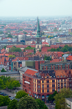 city panorama of hannover