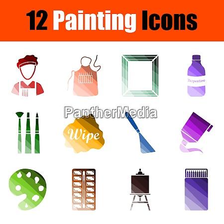 painting icon set