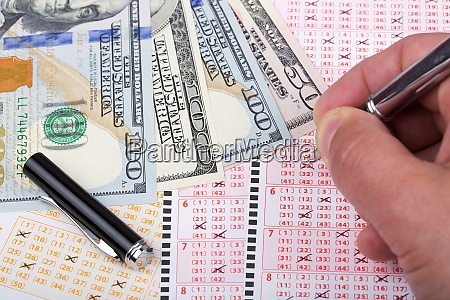 lottery tickets with american dollars