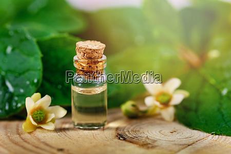 bio herbal cosmetics small bottle