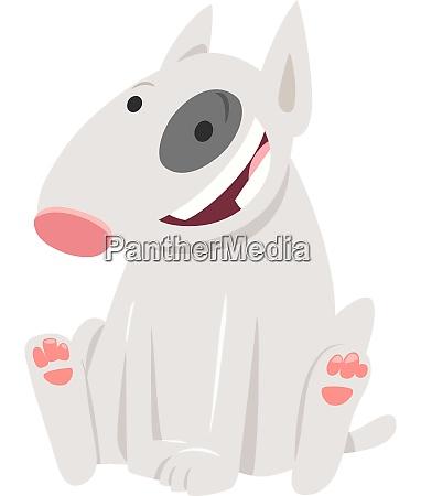 bull terrier dog cartoon character