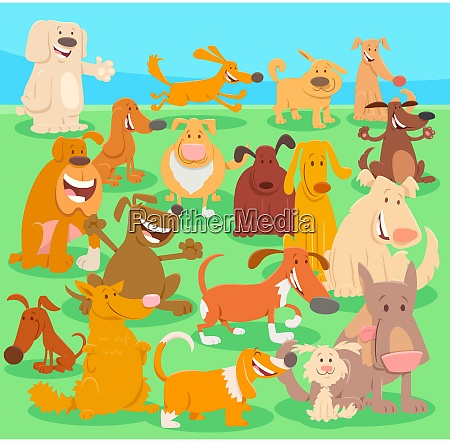 dogs cartoon characters big group