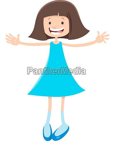 elementary or teen age cartoon girl