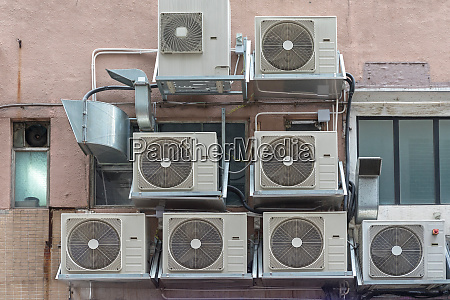 air conditioners facade