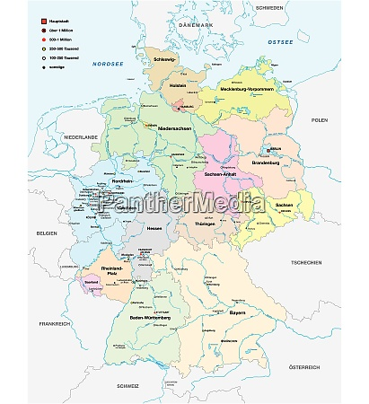 map of germany with all cities