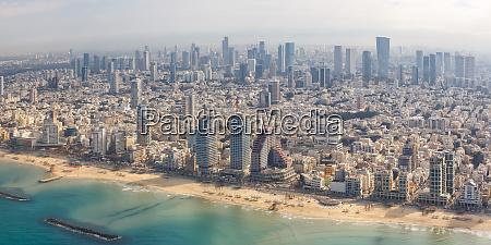 tel aviv skyline panorama israel beach