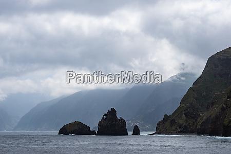 rocks in porto moniz on the
