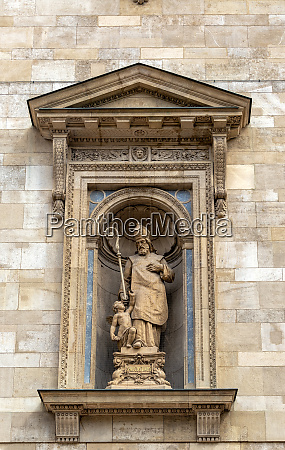 st augustine statue in budapest