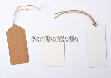 empty paper round and rectangular brown