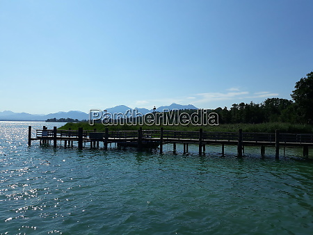 chiemsee with reck