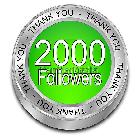 green 2000 followers thank you