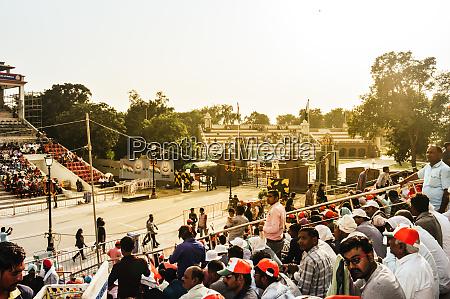 wagha border amritsar punjab india