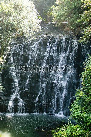 waterfall or water cascade streams falling