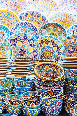colorful pottery dishes sold in dubai