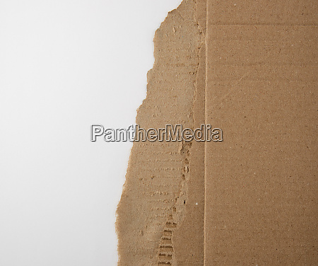 brown paper from the box torn