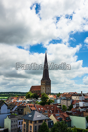 view to a church and buildings