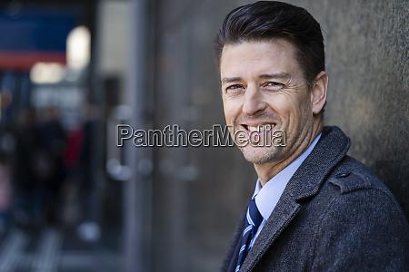 portrait of smiling businessman at a