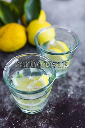 glasses of homemade lemonade