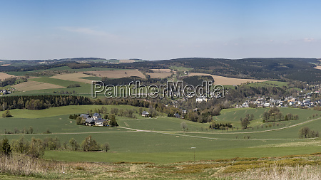 germany saxony panoramic view from the