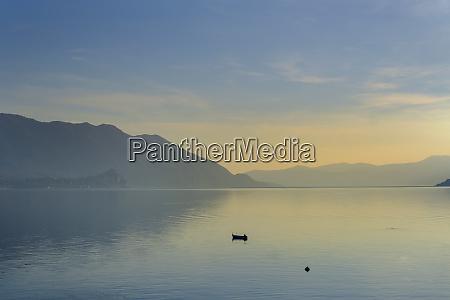 italy piedmont lake maggiore cannobio sunset