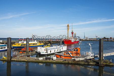 germany cuxhaven fishing boats in the