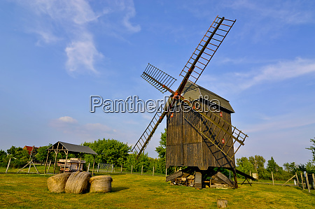 germany saxony anhalt wind mill at