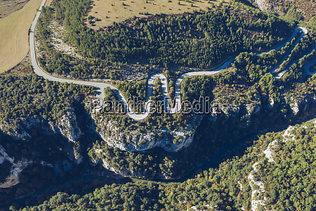 spain navarra irati forest aerial view