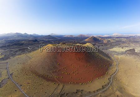 spain canary islands lanzarote volcano montana