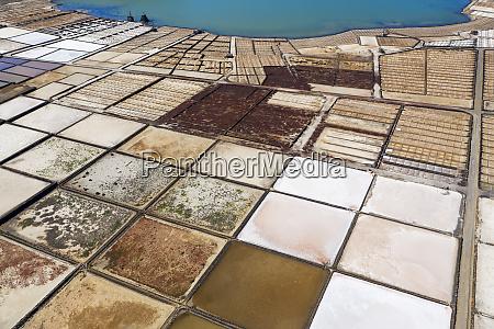 spain canary islands lanzarote yaiza salt