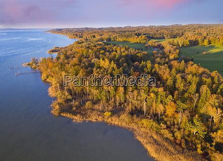 germany bavaria lakeshore of lake starnberg