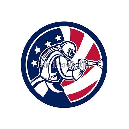 american sandblaster abrasive blasting usa flag