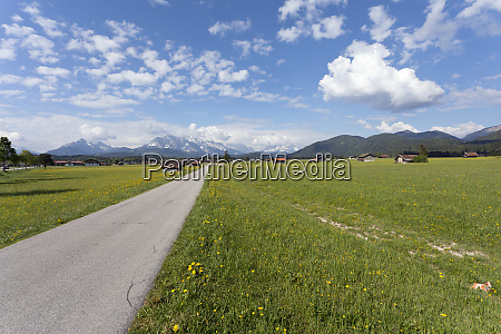 germany upper bavaria landscape with mountains