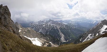 germany upper bavaria view over karwendel
