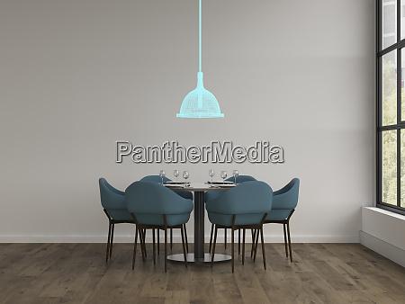 3d rendering hologram of ceiling lamp