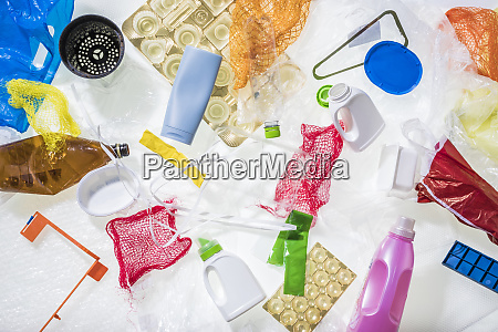 different plastic waste
