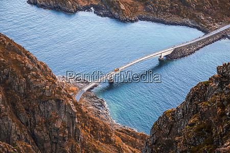 norway lofoten islands henningsvaer bridge