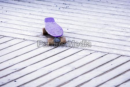 purple skateboard