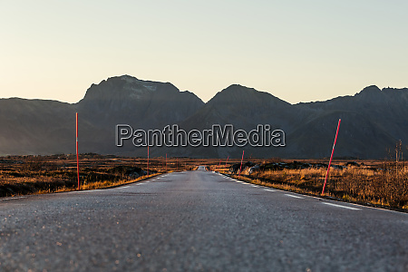norway lofoten islands empty country road